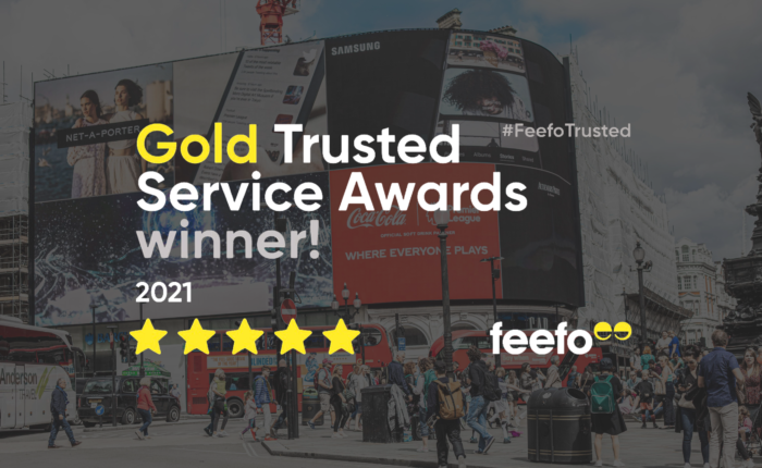 Oyster Partnership receives Feefo Gold Trusted Service Award 2021